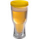 Brew2Go Insulated Beer Tumbler - Gold Lid - 16 oz