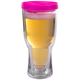 Brew2Go Insulated Beer Tumbler - Pink Lid - 16 oz