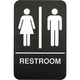 Braille Unisex Restroom Door Sign - 6