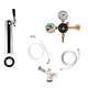1 Faucet Tower Kegerator Conversion Kit - Chrome Tower - US Sankey D System - No CO2 Tank