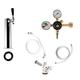 1 Faucet Tower Kegerator Conversion Kit - Chrome Tower - US Sankey D System - No CO2 Tank