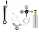 1 Faucet Tower Kegerator Conversion Kit - Chrome Tower - Low Profile US Sankey D System - 5lb CO2 Tank
