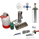 1 Faucet Perlick Tower Kegerator Conversion Kit - Stainless Steel Tower - US Sankey D System - 10lb CO2 Tank