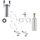 2 Faucet Tower Kegerator Conversion Kit - Stainless Steel Tower - US Sankey D System - 5lb CO2 Tank