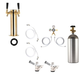 2 Faucet Tower Kegerator Conversion Kit - Brass Tower - US Sankey D System - 5lb CO2 Tank