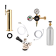 1 Faucet Tower Kegerator Conversion Kit - Brass Tower - European Sankey S System - 5lb CO2 Tank