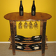 Handmade Wooden Barrel Wine Tasting Table