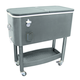 Rolling Cooler Cart - Black - 65 Quart