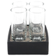 Cool Cordials Set with 4 Cordial Glasses & Granite Chilling Tray