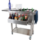 Glastender Portable Stainless Steel Cocktail Station Cart
