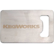 KegWorks Stainless Steel Credit Card Bottle Opener
