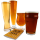 Classic Beer Glass Connoisseur Collection - 4 Glass Set & Tasting Book