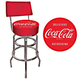 Coca-Cola Padded Bar Stool with Back