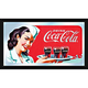 Coca-Cola Retro Wood Framed Mirror - Waitress