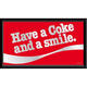 Coca-Cola Retro Wood Framed Mirror - Have A Coke And A Smile