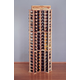 Country Pine Curved Corner Wine Rack - Holds 84 Bottles