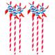 Pinwheel Paper Straws - Set of 6