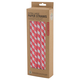 Extra Wide Red & White Striped Paper Straws - Pack of 36