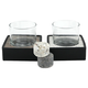 Drink Chiller Rocks Set with Old Fashioned Glasses & Coasters - 6 Pieces