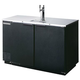 Beverage Air DD50 Kegerator - 2 Faucets - Black
