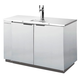 Beverage Air DD50 Kegerator - 2 Faucets - Stainless Steel