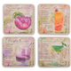 Summer Cocktails Drink Recipe Coasters - Assorted Pack of 8