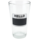Hello My Name Is Chalkboard Pint Glasses - Set of 4
