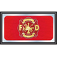 Fire Fighter Wood Framed Bar Wall Mirror