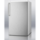 Summit Under Counter Refrigerator-Freezer - 3.6 cu. ft. - Stainless Steel Door