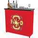 Fire Fighter Portable Metal Bar Table with Carrying Case