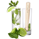 Mojito Glass Set - 2 Glasses & Wooden Muddler