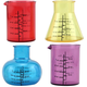 Chemistry Beaker Shot Glasses - Plastic - Set of 4