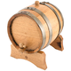 Oak Dispensing Barrel with Galvanized Steel Bands - Satin Finish - 1 Gallon