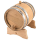 Oak Dispensing Barrel with Steel Bands - Unfinished - 5 Liter