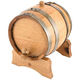 Oak Beverage Dispensing Barrel with Steel Bands - Satin Finish - 5 Liter
