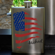 Personalized American Flag Stainless Steel Flask - 8 oz