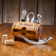 Personalized Wooden Barrel Wine Tool Accessories Kit - 5 Pieces