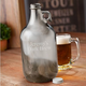 Personalized Glass Beer Growler - Gunmetal Grey - 64 oz