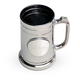 Personalized Gunmetal Tankard Mug with Pewter Medallion - 16 oz