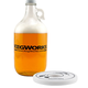 KegWorks Glass Beer Growler with Growler Collar