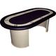 Premium Racetrack Style Black Felt Poker Table