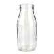 Glass Milk Bottle with Lid - 16 oz