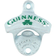 Guinness Shamrock Cast Aluminum Bottle Opener - Wall Mount