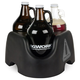 KegWorks Growler On Board Beer Growler Carrier - Black - Holds 3 Growlers