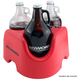 KegWorks Growler On Board Beer Growler Carrier - Red - Holds 3 Growlers