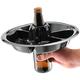 The Go Plate 10 Pack - Black - Reusable Food & Beverage Holder