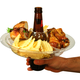 The Go Plate - Reusable Food & Beverage Holder - 21 Plates