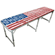 GoPong Portable American Flag Tailgating & Beer Pong Table - 8 ft