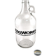 KegWorks Clear Glass Beer Growler - 64 oz