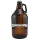 KegWorks Amber Glass Beer Growler - 64 oz